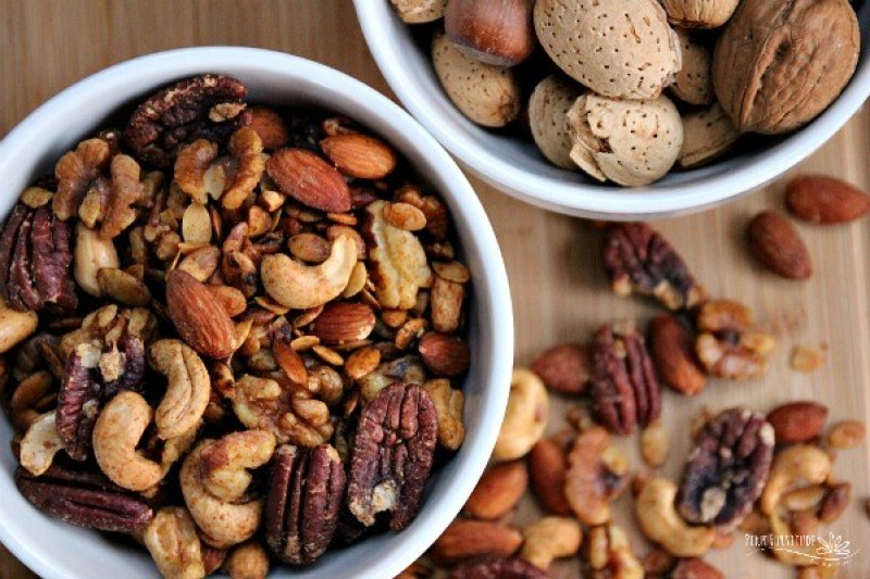 Sweet and savory, these spiced nuts can be eaten by the handful without all the guilt.
