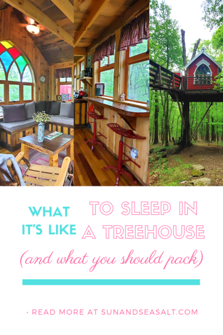 What it's like to sleep in a treehouse and what you should pack