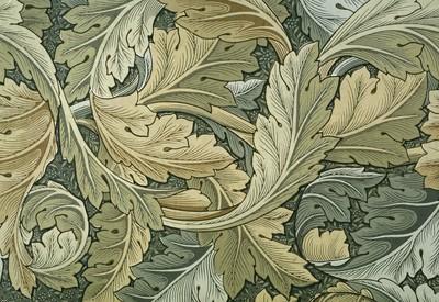 Acanthus, 1875, William Morris. Flowing artwork depicting curling leaves.