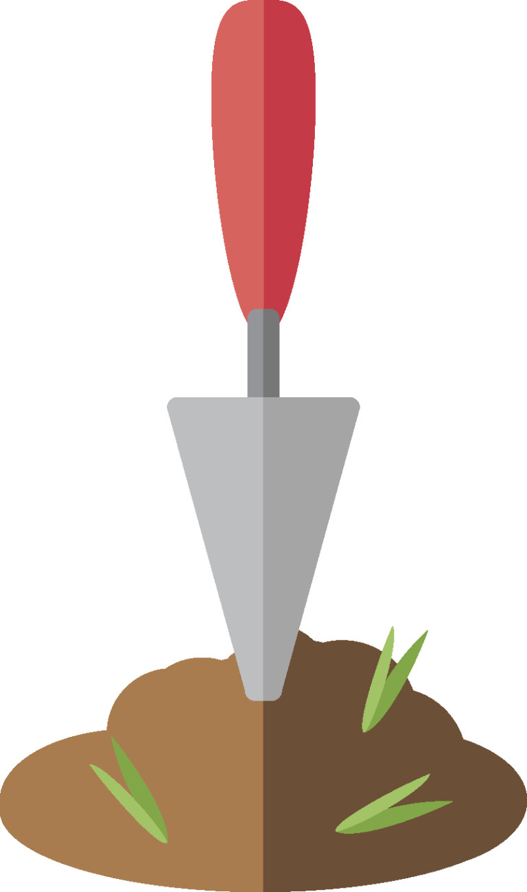 Illustration of a trowel.