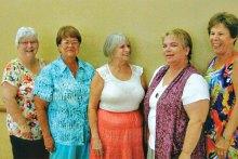 Bunny Bottorff, Barb Dunbar, Larie Thibeault, Holly Bird and Judy Domenigoni