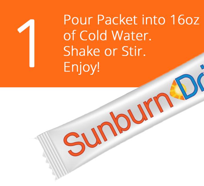 Sunburn Relief step 1