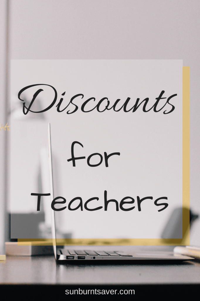 Looking for discounts for teachers? Look no further! @sunburntsaver