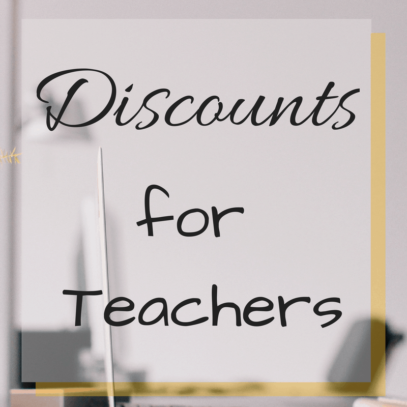 Discounts for Teachers