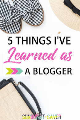 5 things i learned as a blogger image