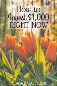 Save $1,000 or receive $1,000 as a gift? Here are some sensible ways to invest $1,000 right now!