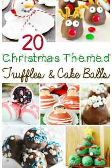 20 Christmas-themed truffle and cake balls