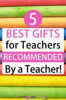Looking for some awesome, affordable gifts for teachers? I've got you covered - this gift guide for teachers is teacher-approved!
