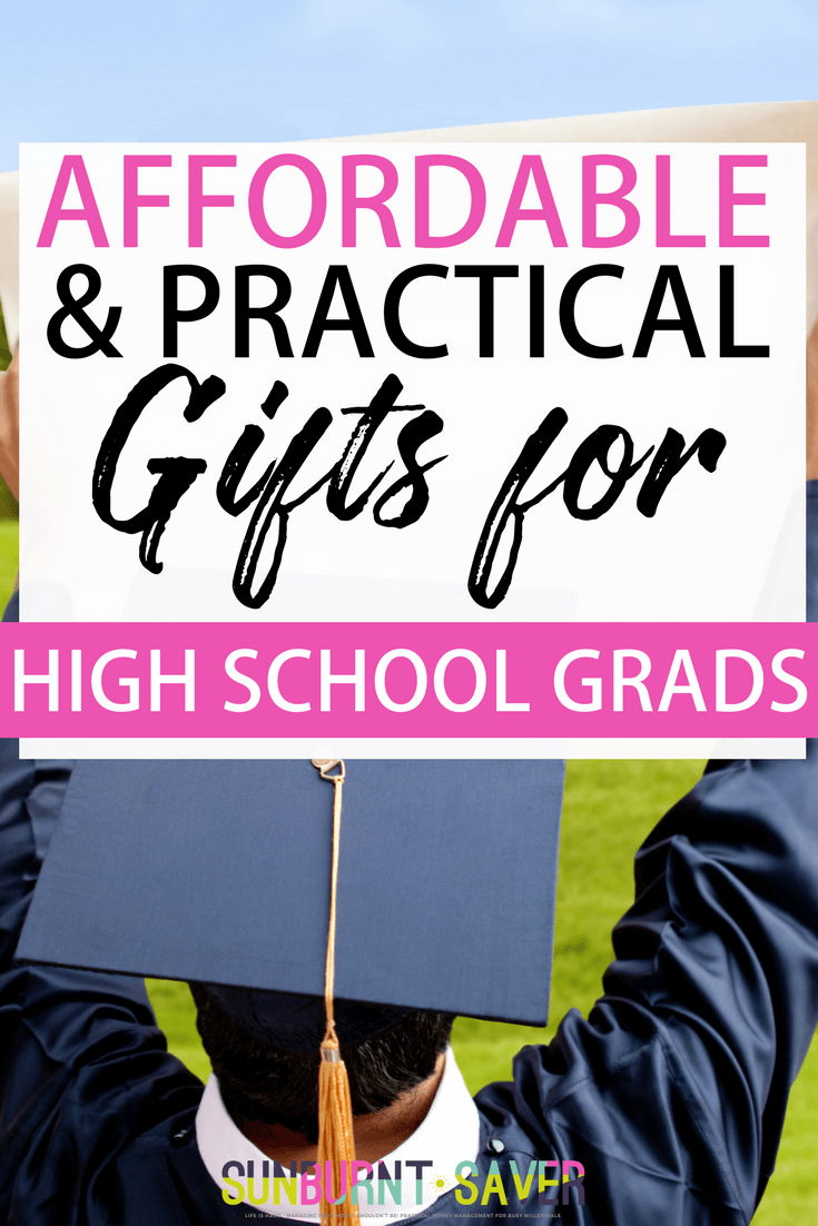 Looking for affordable and practical gifts for high school grads? This short and practical list will help your high school grad succeed in college or where ever life takes him/her! #highschool #highschoolgraduation #highschoolgraduationgifts #graduationgifts #graduationparty