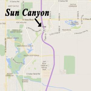 Map to Sun Canyon Scottsdale