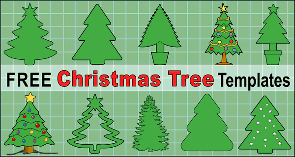 Christmas Tree Templates And Stencils Free Printable Patterns
