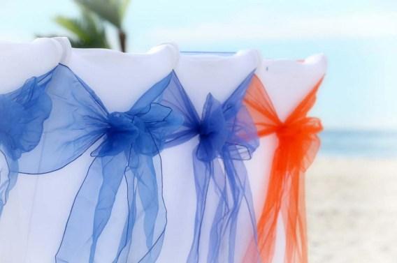 royal blue and orange sashes