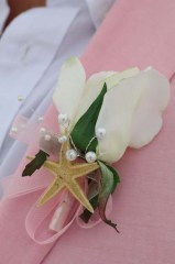 starfish pearl buttonhole