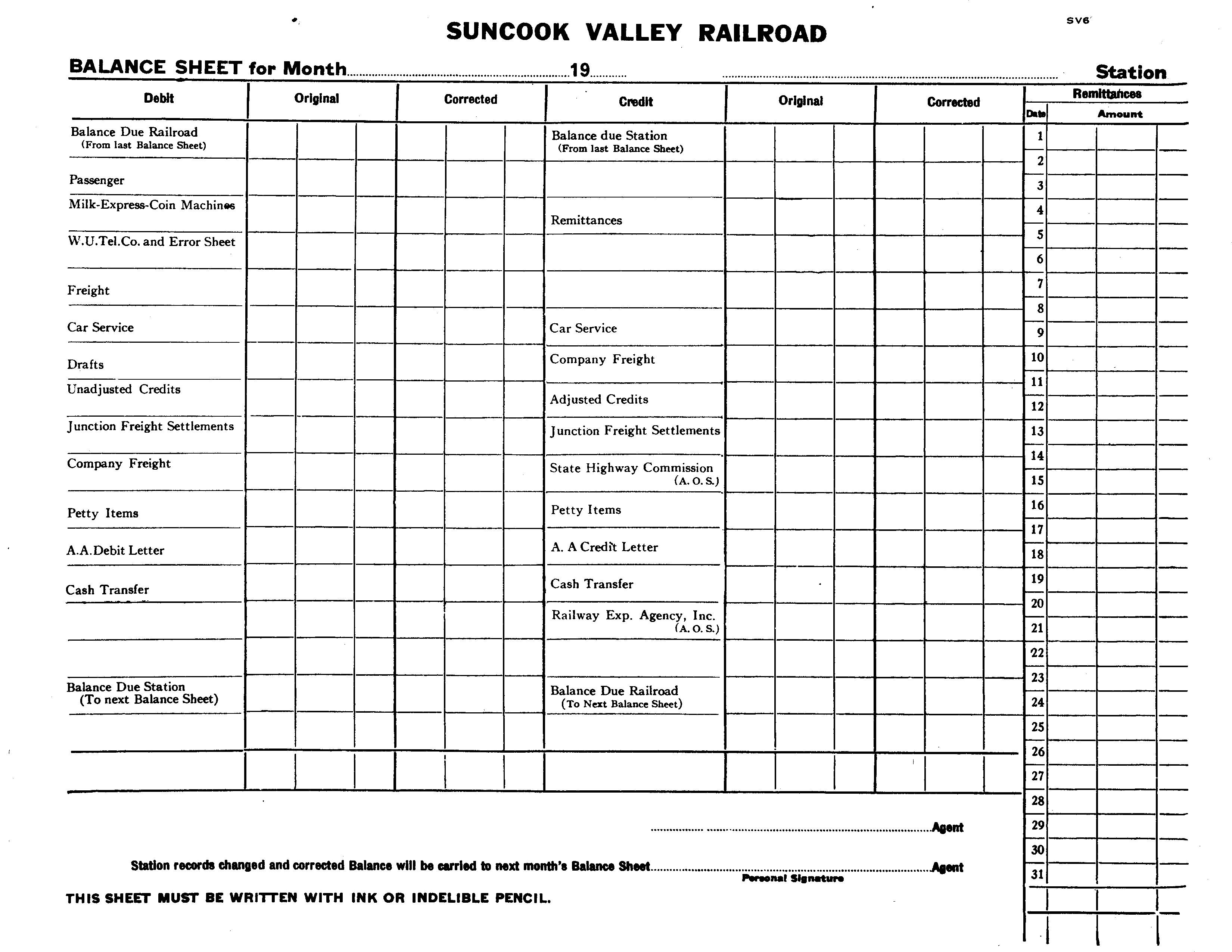 Suncook Valley Railroad Freight Service Documents