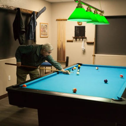 Billiards room at Arizona RV Resort