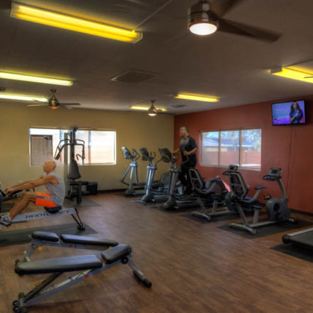 Our modern workout facility is available to all residents at Sundance 1 RV