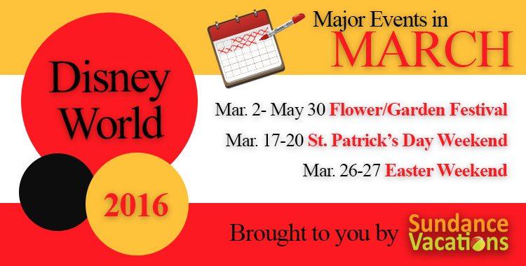 sundance vacationsl; disney events march; disney world in march; march in disney world; march disney events