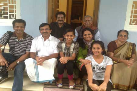 Guests of the Only Vegetarian Homestay in Wayanad Akhila, Shaju, Akshadha, Lakshmi, Retnamma and P.S.-Pillai