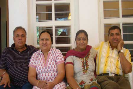 Guests of the Only Vegetarian Homestay in Wayanad Amrut Patel and Family