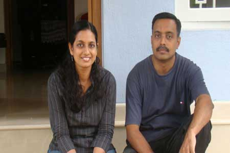 Guests of the Only Vegetarian Homestay in Wayanad Lakshmi and Unni