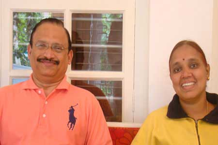 Guests of the Only Vegetarian Homestay in Wayanad Ramakrishna Rao and Ramamani