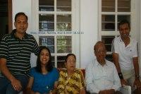 Sundara Mahal Vegetarian Homestay guestsAmit Sanghi and family