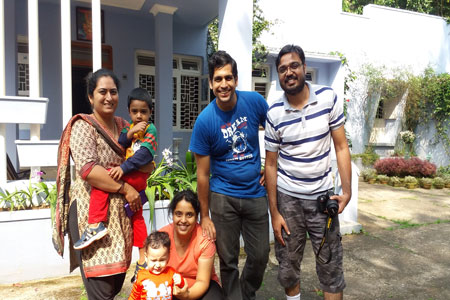 Sundara Mahal Vegetarian Homestay guests Chaitrali and family