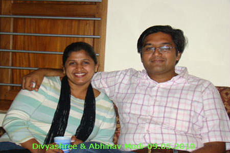Sundara Mahal Vegetarian Homestay guests Divyashree and family