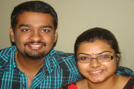 Sundara Mahal Vegetarian Homestay guests Gowri and family
