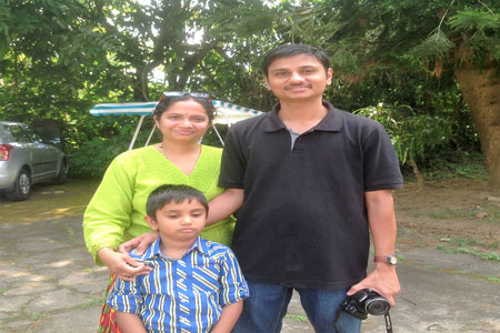 Sundara Mahal Vegetarian Homestay guests Gowri and family