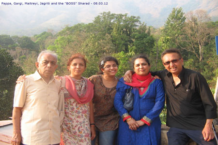 Sundara Mahal Vegetarian Homestay guests Sharat and family