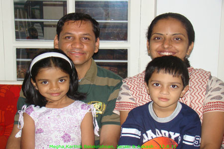Sundara Mahal Vegetarian Homestay guests Janaki and family