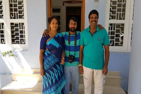 Sundara Mahal Vegetarian Homestay guests Gayatri and family