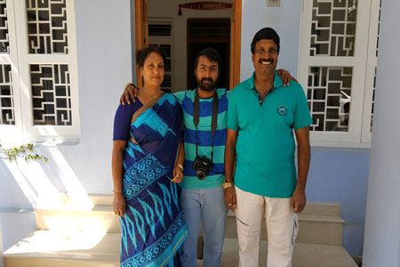 Sundara Mahal Vegetarian Homestay guests Gayatri and family