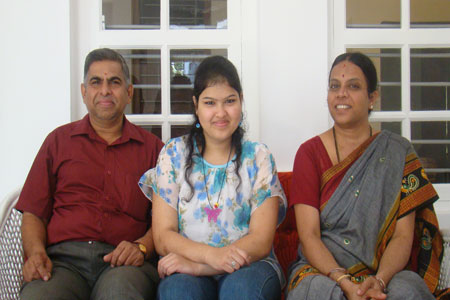 Sundara Mahal Vegetarian Homestay guests Kusuma and family