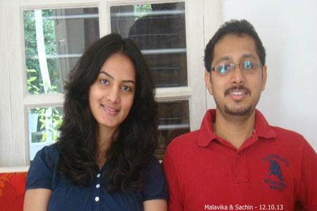 Sundara Mahal Vegetarian Homestay guests Malavika and family