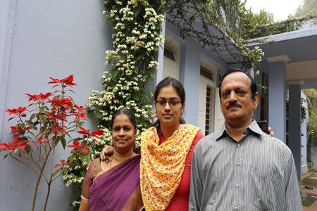 Sundara Mahal Vegetarian Homestay guests Mallika and family