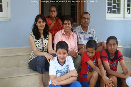 Sundara Mahal Vegetarian Homestay guests Mamatha and family