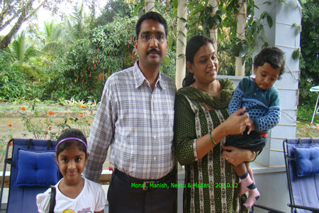 Sundara Mahal Vegetarian Homestay guests Manish Singhal and family
