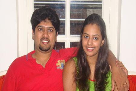 Sundara Mahal Vegetarian Homestay guests Nivedita and family
