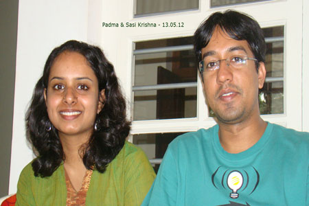 Sundara Mahal Vegetarian Homestay guests Padma and family