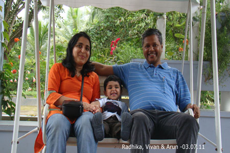 Sundara Mahal Vegetarian Homestay guests Radhika and family