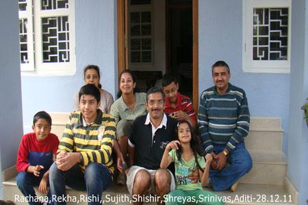 Sundara Mahal Vegetarian Homestay guests Rekha Sastry and family