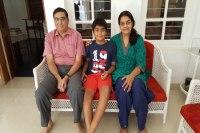 Sundara Mahal Vegetarian Homestay guests Shobha and family