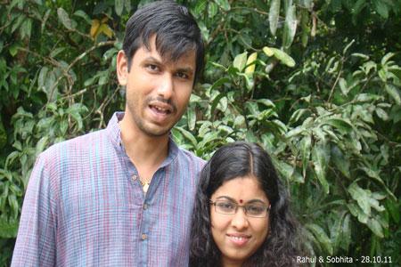 Sundara Mahal Vegetarian Homestay guests Rahul and family