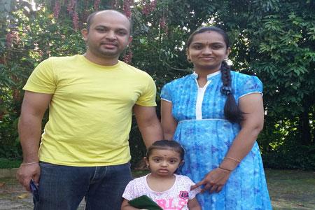 Sundara Mahal Vegetarian Homestay guests Soumya and family