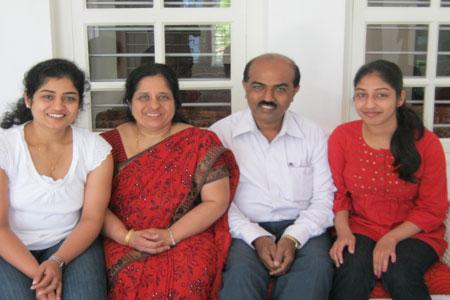 Sundara Mahal Vegetarian Homestay guests Manasa and family