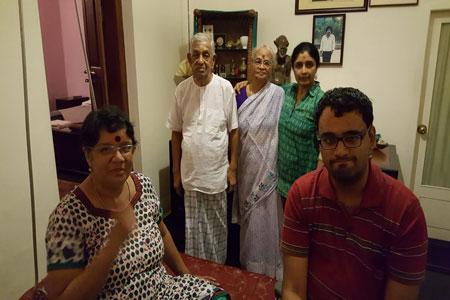 Sundara Mahal Vegetarian Homestay guests Usha Swaminathan and family