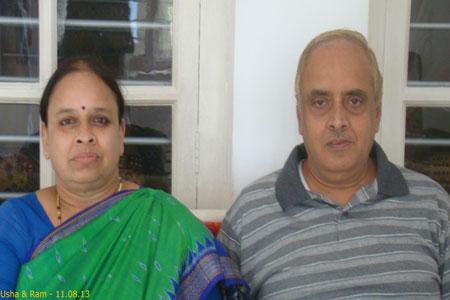 Sundara Mahal Vegetarian Homestay guests Usha and family