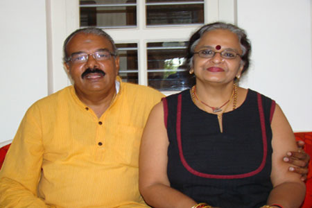Sundara Mahal Vegetarian Homestay guests Radha and family
